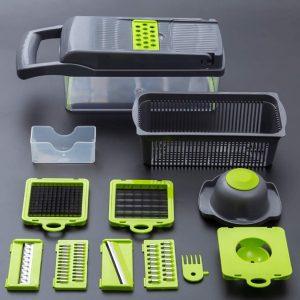 Vegetable Cutter Shredder with Container Salad Cutter Grater Egg Separator Vegetable Chopper Slicer Dicer